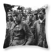 taken prisoner in Normandy Throw Pillow
