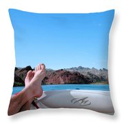 Takin It Easy Throw Pillow