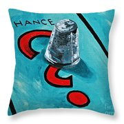 Taking A Chance Throw Pillow