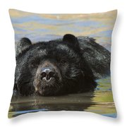 Taking A Dip Throw Pillow by Sandra Bronstein