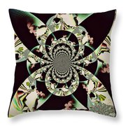Taking A Ride In Heaven Throw Pillow