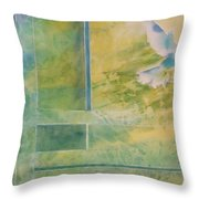 Taking Flight To The Light Throw Pillow
