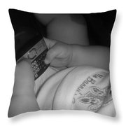 Taking Her First Baby Text..... Throw Pillow by WaLdEmAr BoRrErO