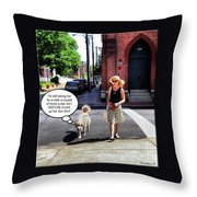 Taking Her Out For A Stroll Throw Pillow