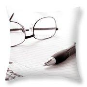 Taking Notes Throw Pillow