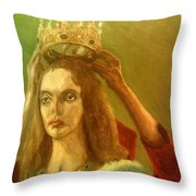Taking Off The Crown Throw Pillow
