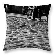 Taking On The Cobbles Throw Pillow