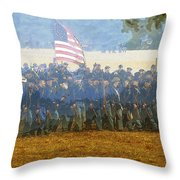 Taking The Field Throw Pillow