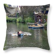 Taking The Oars Throw Pillow