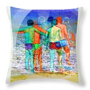 Taking The Plunge Together Throw Pillow