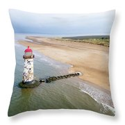 Talacre Aerial 2 Throw Pillow