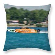 Talbot Offshore Racing Throw Pillow