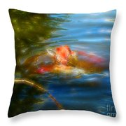 Tale Of The Wild Koi 2  Throw Pillow