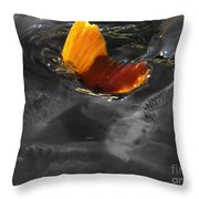 Tale Of The Wild Koi 3 Throw Pillow