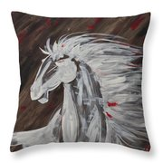 Tale Of The Wind Horse Throw Pillow