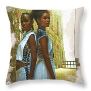Tale Of Two Sister Throw Pillow