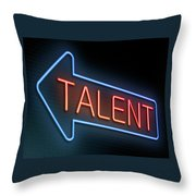Talent Concept. Throw Pillow