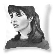 Talia Shire - Adrian Throw Pillow