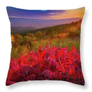 Talimena Evening Throw Pillow