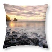 Talisker Bay Boulders At Sunset Throw Pillow