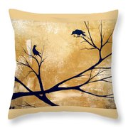 Talking A Lot Of Crow  Throw Pillow