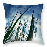 Talking Reeds Throw Pillow
