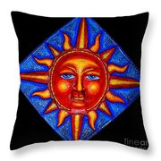 Talking Sun Throw Pillow