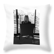 Talking To God Throw Pillow