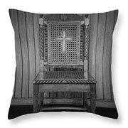 Talking To The Chair Throw Pillow