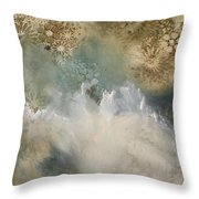 Talking With The Ocean Throw Pillow