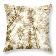 Tall Aspens Throw Pillow