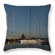 Tall Boats In The Morning Throw Pillow