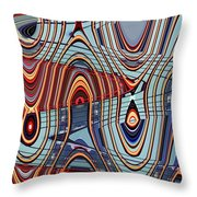 Tall Building Showing Colors Throw Pillow