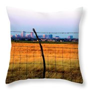 Tall City Morning Throw Pillow
