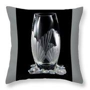 Tall Crystal Vase Throw Pillow