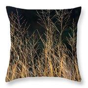 Tall Fall Grasses Throw Pillow