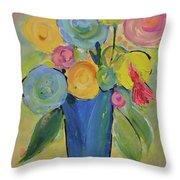 Tall Floral Order Throw Pillow