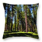 Tall Forest Throw Pillow