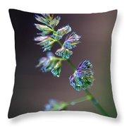 Tall Grass Stem Close-up Throw Pillow
