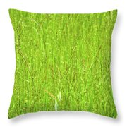 Tall Grassy Meadow Throw Pillow