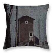 Tall Little Stilt House 3 Throw Pillow