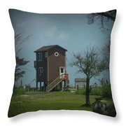 Tall Little Stilt House, Throw Pillow