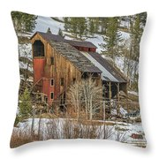 Tall Old Building Throw Pillow