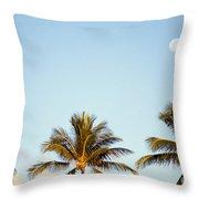 Tall Palm Throw Pillow