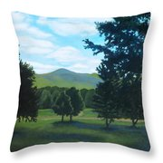 Tall Pines Surround Your Green Hills Throw Pillow