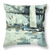 Tall Sails In Sydney Throw Pillow