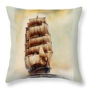 Tall Ship Carradale Throw Pillow