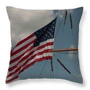 Tall Ship Flag IIi Throw Pillow