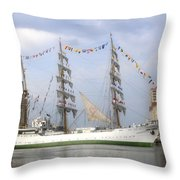 Tall Ship In Tampa Bay Throw Pillow