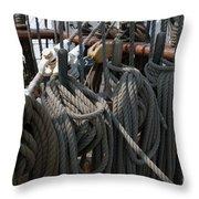 Tall Ship Lines V Throw Pillow